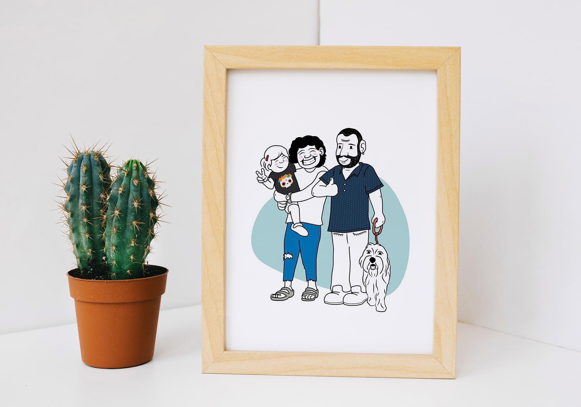 Ilustración para regalo de boda