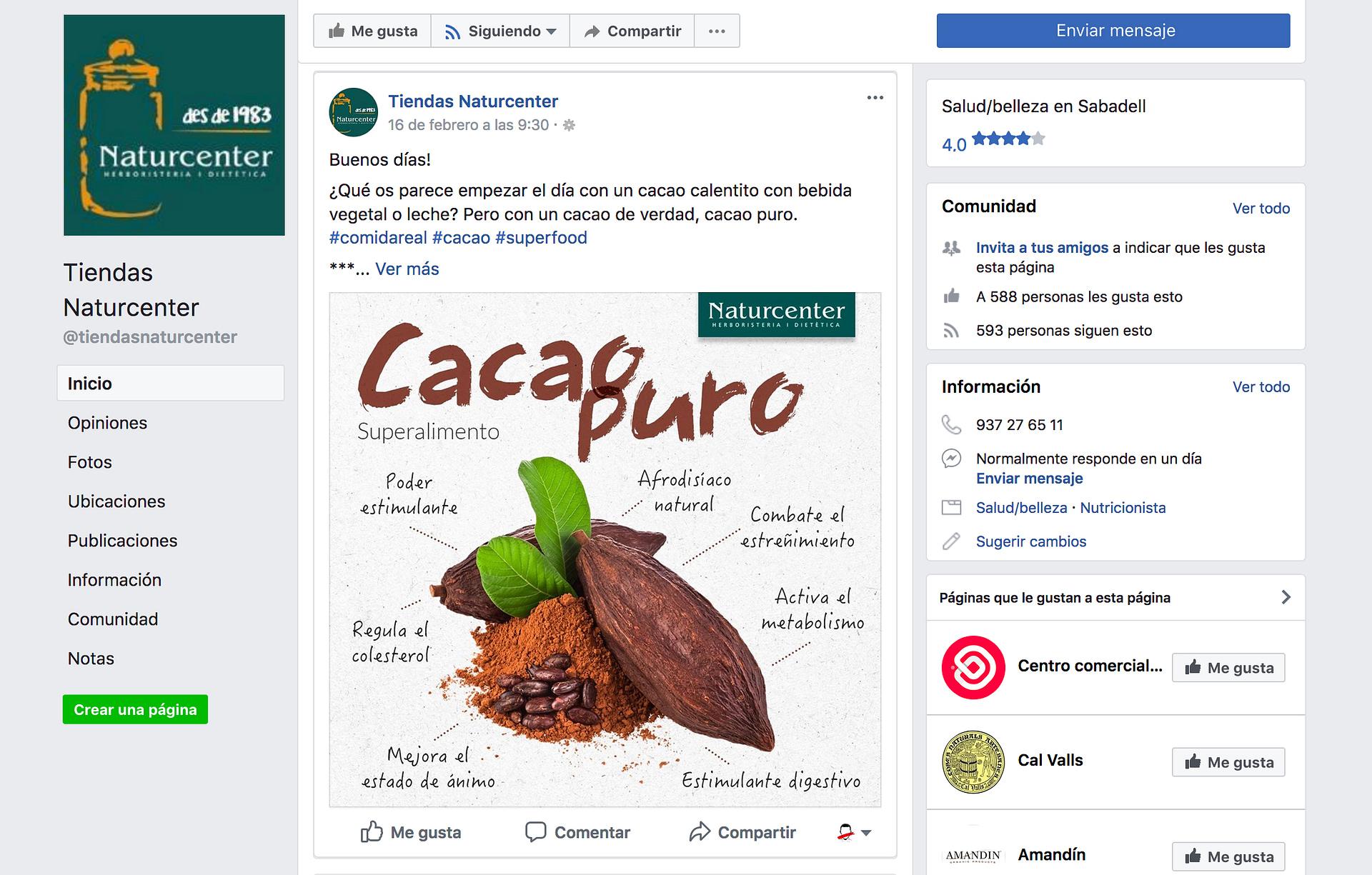 Facebook Naturcenter
